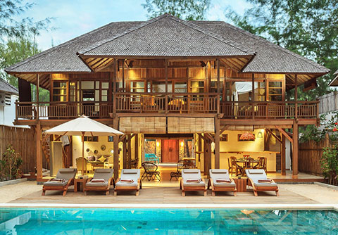 custom design bali luxury villa wooden house complex villas and hotels with swimming pool gili resort 5